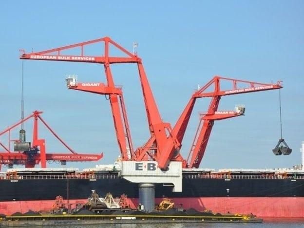 Floating grab cranes