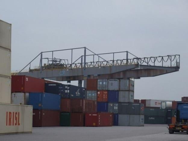 Gebroken lager katrijdwerk Figee-containerkraan