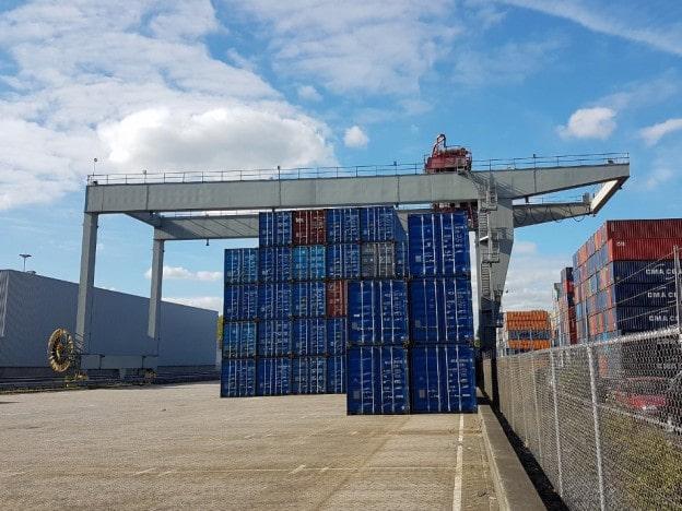 Gebruikte container kraan of portaalkraan 45ton TE KOOP