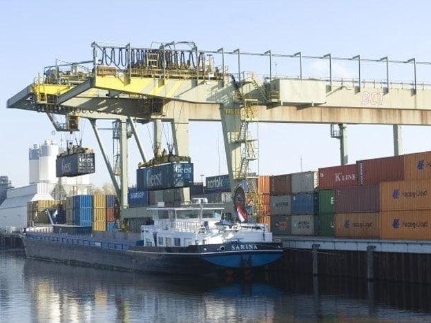 Spreader enkelvoudige containerkraan