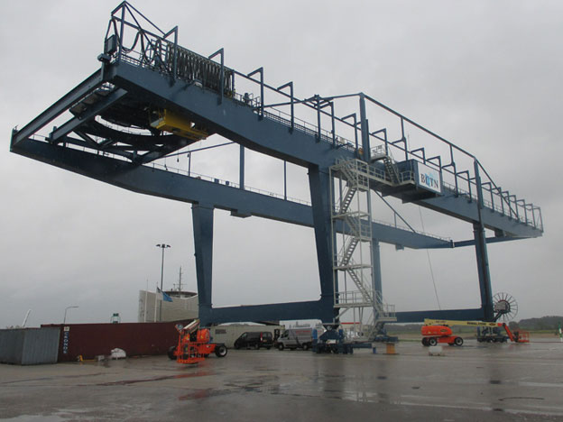 Refurbishment Container Crane At BCTN Inland Terminal In Nijmegen