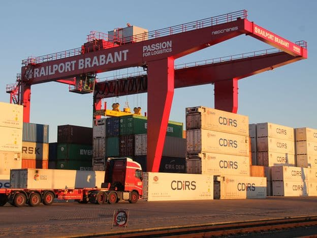 Nieuwe Nedcranes Containerkraan Operationeel Bij Railport Brabant